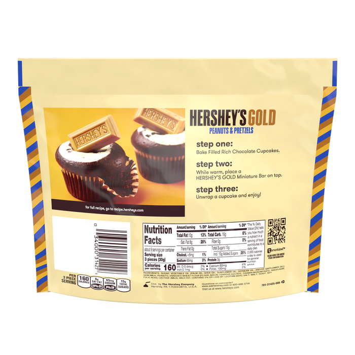 Image of HERSHEY'S GOLD Miniatures, 9.6 oz. bag Packaging