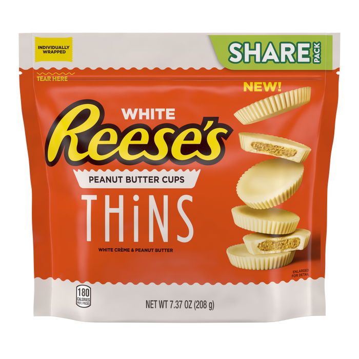 Image of REESE'S THiNS White Creme, 7.37 oz Packaging