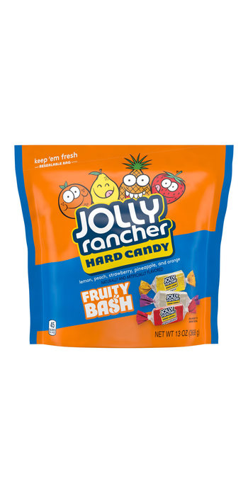 Image of JOLLY RANCHER Fruity Bash Candy 13 oz. pouch Packaging
