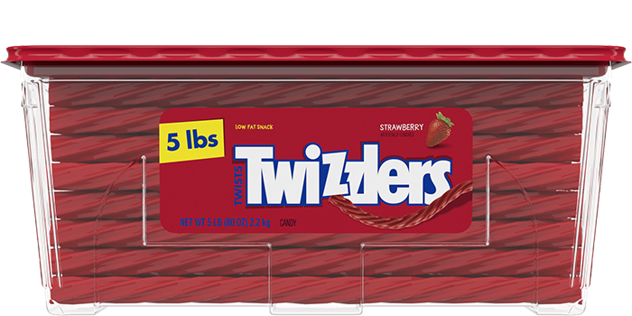 "Image of TWIZZLERS ""Fresh From the Factory"" Strawberry Twists Packaging"
