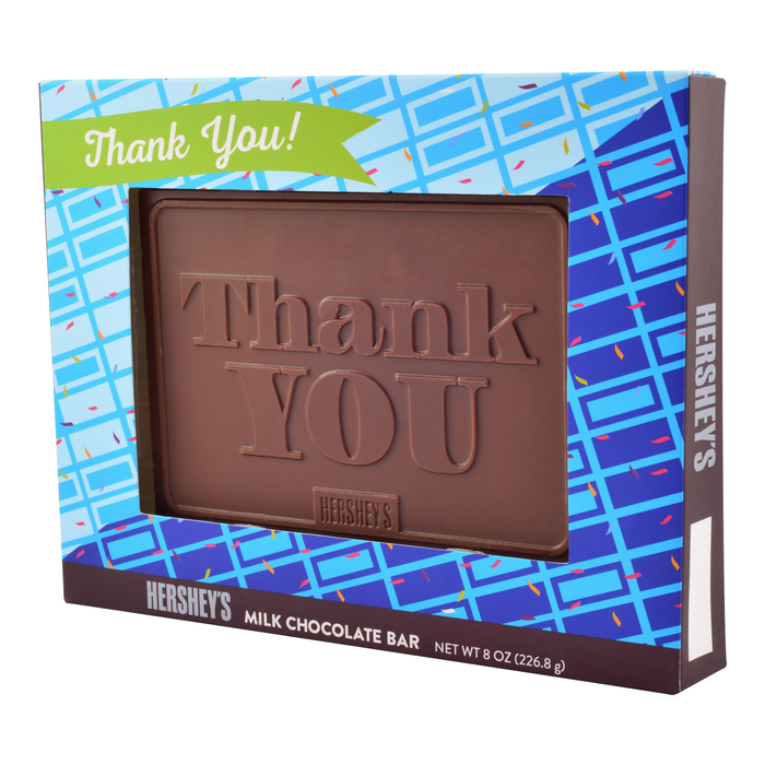 """Image of HERSHEY'S """"Thank You"""" Chocolate Bar - 8 oz. Packaging"""