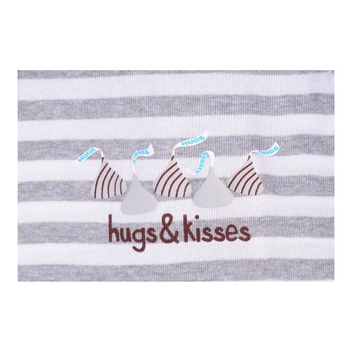 Image of HERSHEY'S HUGS & KISSES Gray Bodysuit Packaging