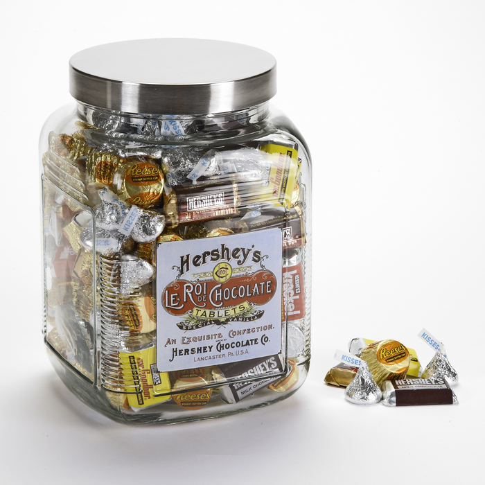 Image of HERSHEY'S Le Roi Filled Jar - 3.81 lbs. [3.81 lbs. jar] Packaging