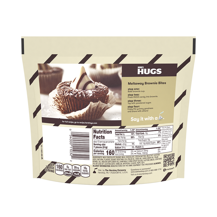 Image of HERSHEY'S HUGS Candies, 10.6 oz. bag Packaging