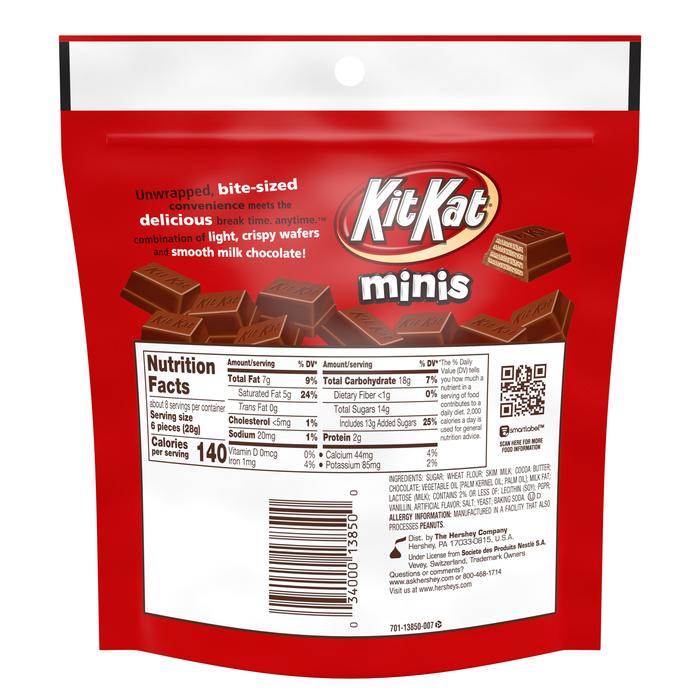 Image of KIT KAT Minis Crisp Wafers in Milk Chocolate Packaging