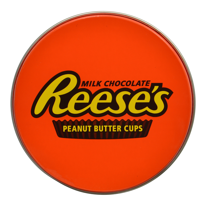 Image of REESE'S Mini Tin Party Favors Filled with REESE'S Peanut Butter Cup Miniatures Packaging