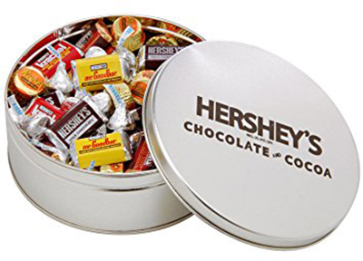 HERSHEY'S Favorites Filled Silver Tin - 2 lbs.