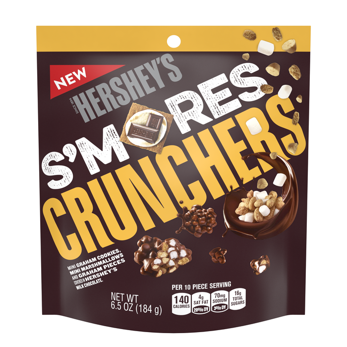 Image of HERSHEY'S S'MORES Crunchers [6.5 oz. pouch] Packaging