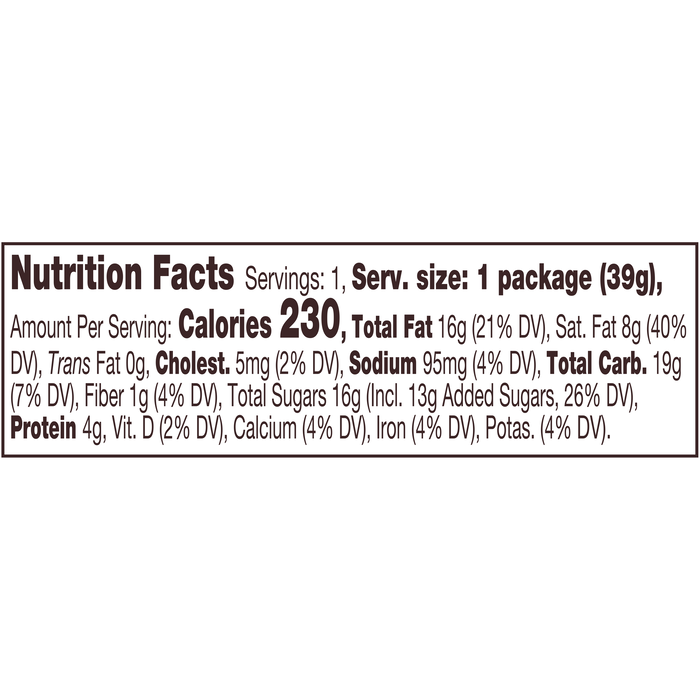 Image of REESE'S Organic Milk Chocolate Peanut Butter Cups, 1.4 oz. 12-Pack (12 x 1.4 oz. bar) Packaging