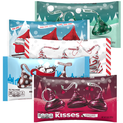 Holiday KISSES Milk Chocolates Bundle