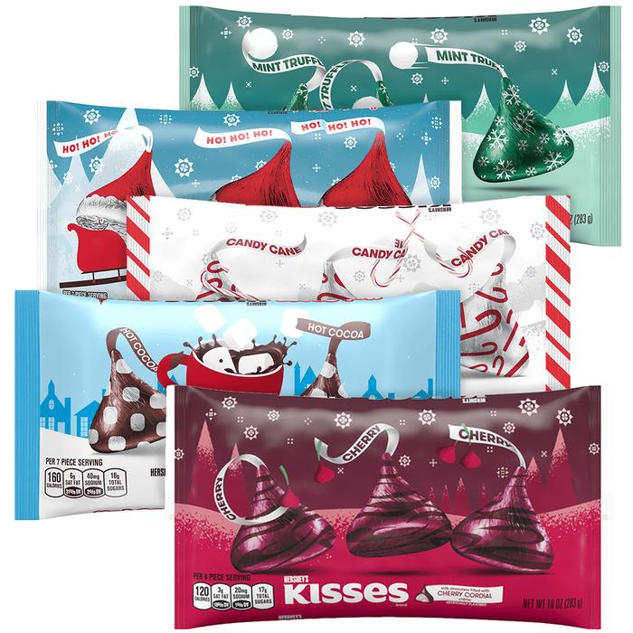 Image of Holiday KISSES Milk Chocolates Bundle Packaging