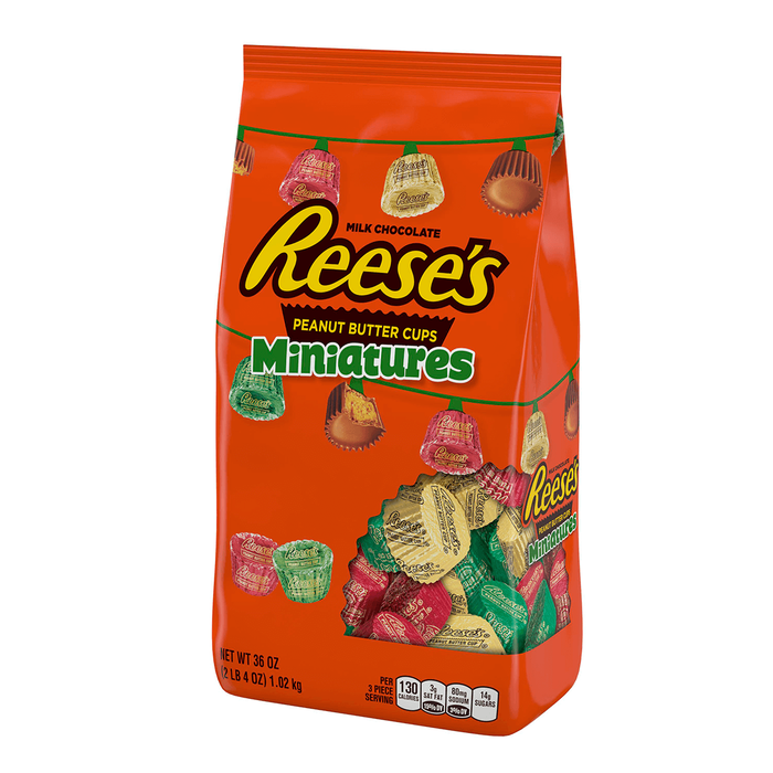 Image of Holiday REESE'S Peanut Butter Cup Miniatures, 36 oz. [36 oz. stand-up bag] Packaging