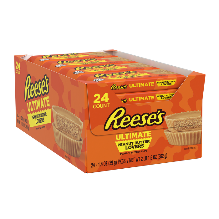 Image of REESE'S Ultimate Peanut Butter Lovers Peanut Butter Cups, 1.4 oz. 24-Pack Packaging