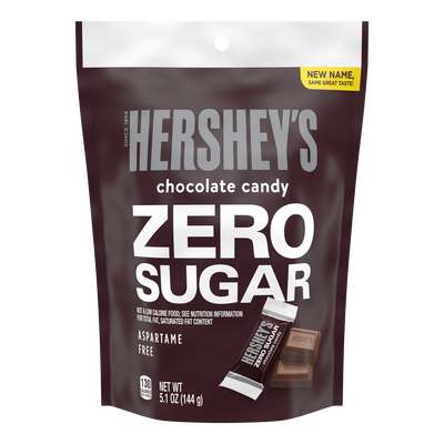 HERSHEY'S Zero Sugar Chocolate Candy Bars, 5.1 oz bag