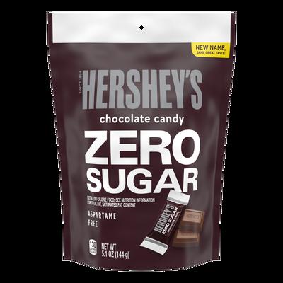 HERSHEY'S Zero Sugar Chocolate Candy Bars, 5.1 oz bag
