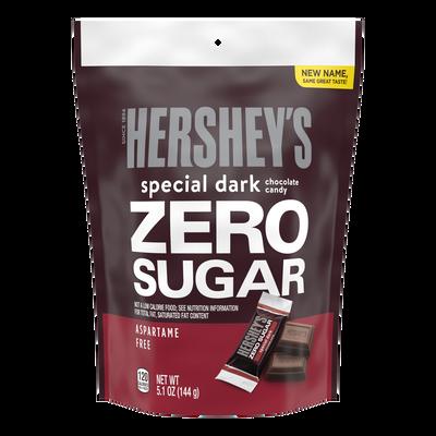 HERSHEY'S SPECIAL DARK Zero Sugar Chocolate Candy Bar, 5.1 oz bag