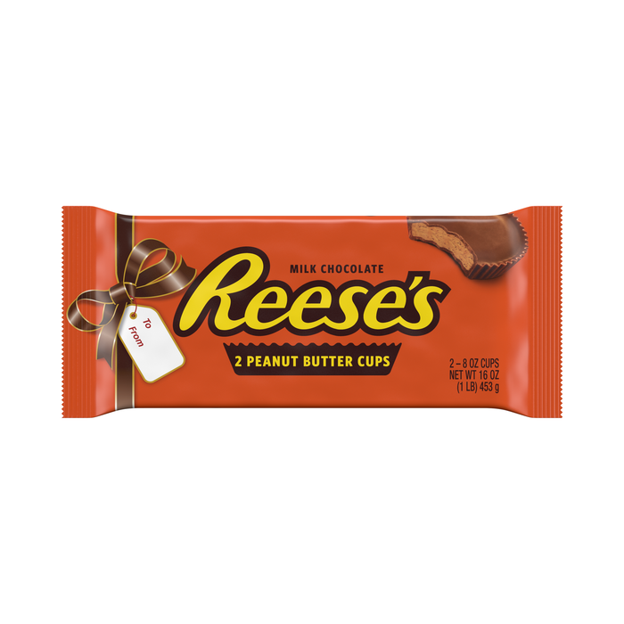 Image of World's Largest REESE'S Peanut Butter Cups [1 lb. pack (2 x 8 oz. cups)] Packaging