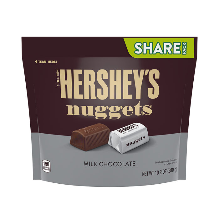 Image of HERSHEY'S NUGGETS Milk Chocolate, 10.2 oz. bag Packaging