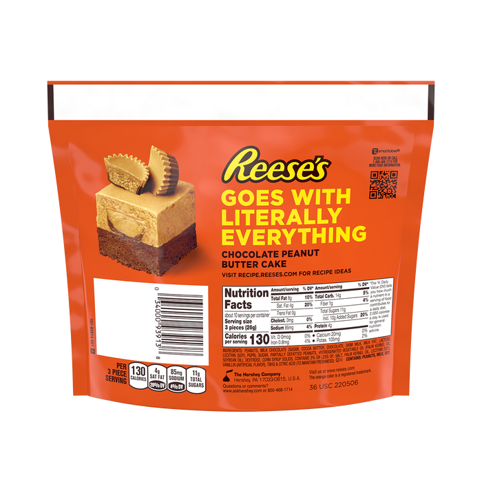 Image of REESE'S Miniatures Peanut Butter Lovers Milk Chocolate Peanut Butter Cups, 9.3 oz bag Packaging