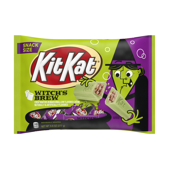 Image of KIT KAT® Crisp Wafers in Crème with Witch's Brew Foils, 9.8 oz Packaging