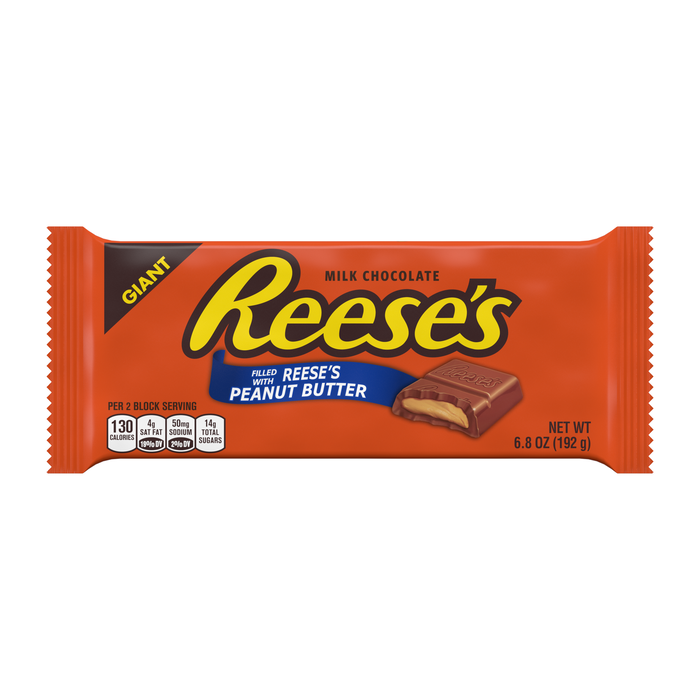 Image of REESE'S Peanut Butter Giant (6.5 oz.) Bar Packaging
