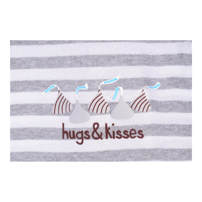 Image of HERSHEY'S HUGS & KISSES Gray Bodysuit Packaging