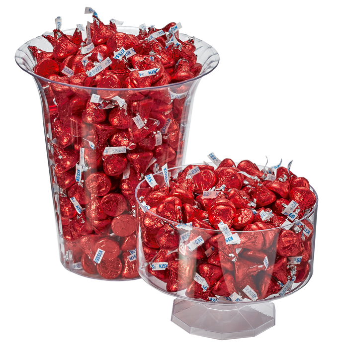 Image of KISSES Milk Chocolates in Red Foils - 4.16 lbs. [4.16 lb. bag] Packaging