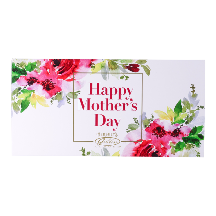 Image of HERSHEY'S Mother's Day GOLDEN ALMOND Chocolate Bars [14 oz. box] Packaging