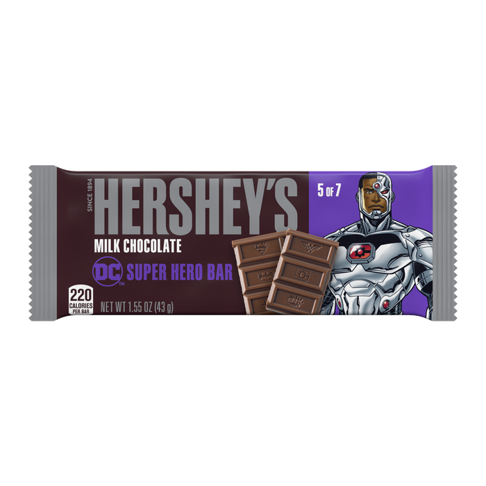 Image of HERSHEY'S Milk Chocolate DC Super Hero Bar, 1.55 oz Packaging