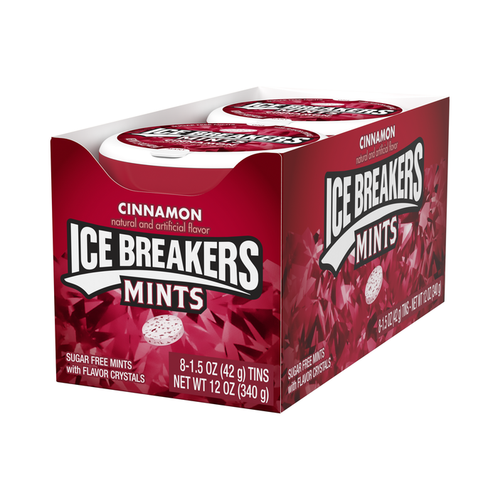 Image of ICE BREAKERS Mints in Cinnamon Packaging