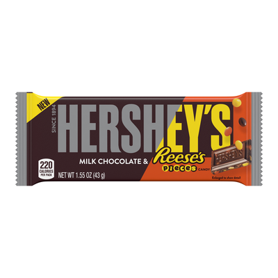 HERSHEY'S Milk Chocolate with REESE'S Pieces Standard Bar