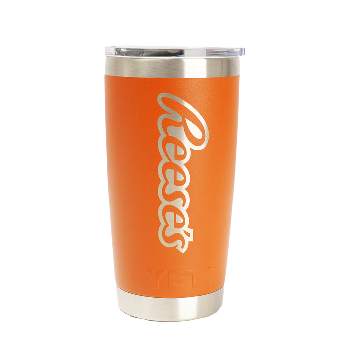 Image of Yeti Orange Travel Mug 20 oz. Packaging