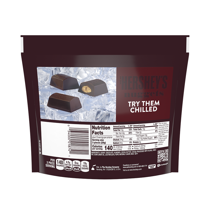 Image of HERSHEY'S NUGGETS SPECIAL DARK Chocolate with Almonds, 10.1 oz. bag Packaging