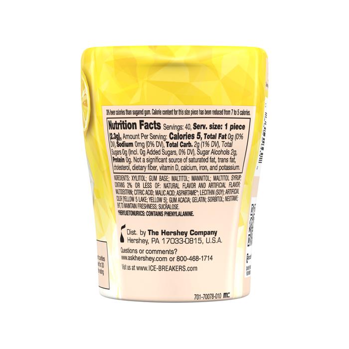 Image of ICE BREAKERS ICE CUBES Cool Lemon Gum, 3.24 oz. - 4 ct. Packaging