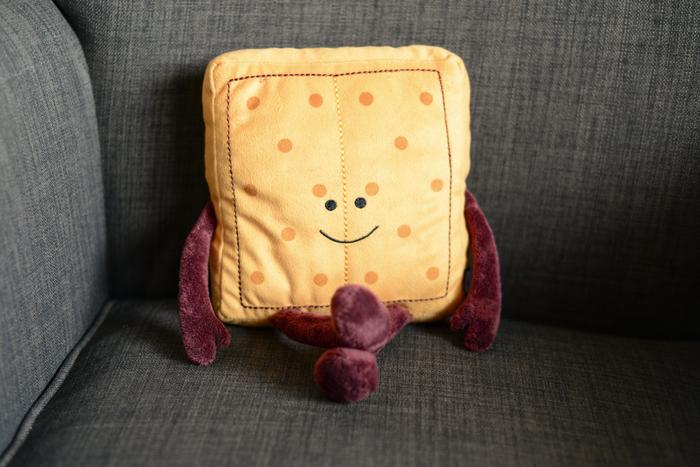 Image of Graham Cracker Plush Toy Packaging