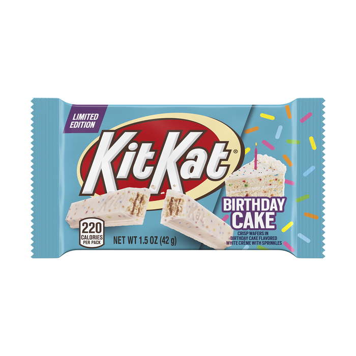 Image of KIT KAT® Birthday Cake Standard Bar, 1.5 oz Packaging