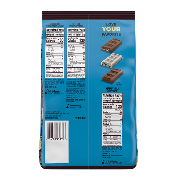 Image of HERSHEY'S Snack Size Assortment, 31.5 oz bag Packaging