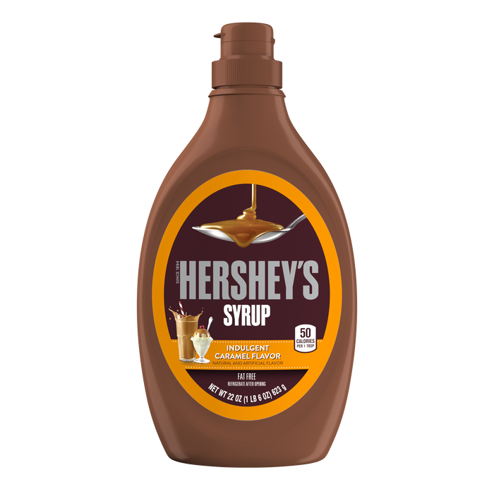 Image of HERSHEY'S Caramel Syrup 22 oz. bottle Packaging