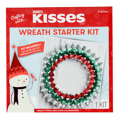 KISSES Floracraft Holiday Wreath Decoration Activity Kit