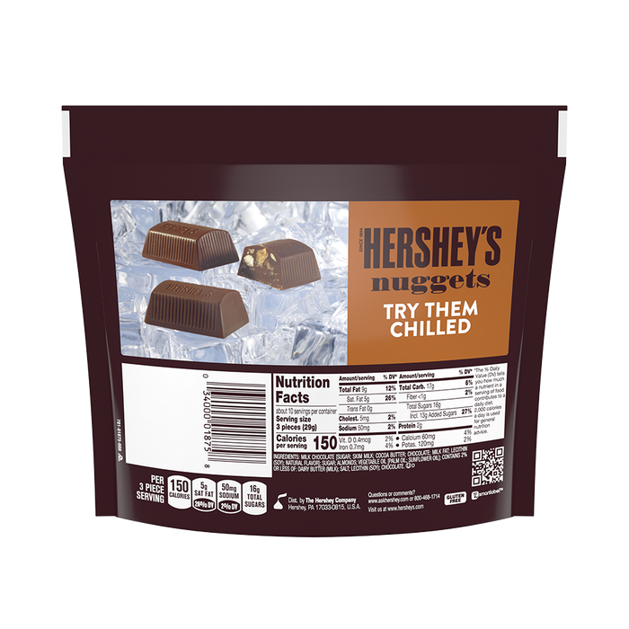 Image of HERSHEY'S NUGGETS Milk Chocolate with Toffee and Almonds Packaging