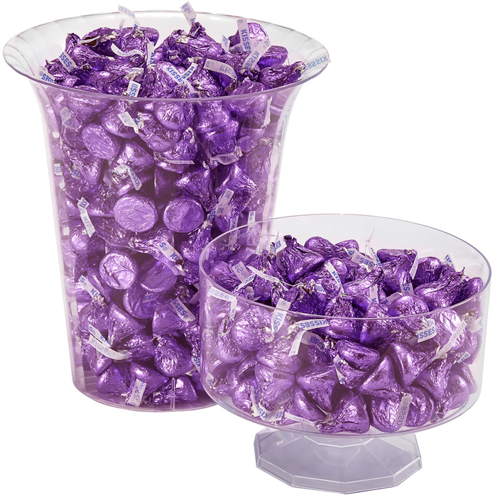 Image of KISSES Milk Chocolates in Purple Foils - 4.16 lbs. [4.16 lb. bag] Packaging