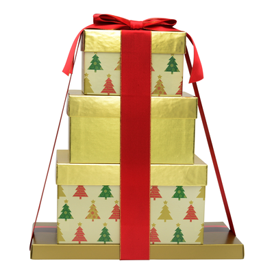 HERSHEY'S Four-Box Holiday Gift Tower