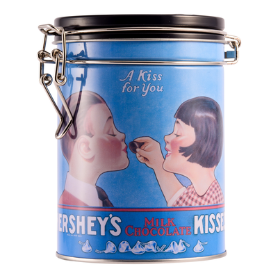 HERSHEY'S KISSES Vintage Decorative Tin Canister