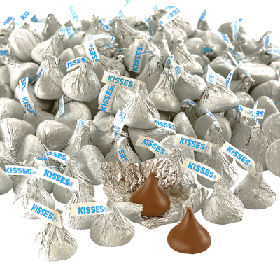 KISSES Milk Chocolates in Silver Foils - 4.16 lbs.
