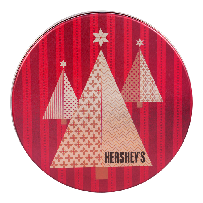 Image of Holiday HERSHEY'S Chocolate Tin, 2 lbs. , 2 lbs. tin Packaging