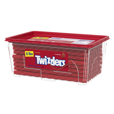 TWIZZLERS Strawberry Twists - 5 lbs. tub