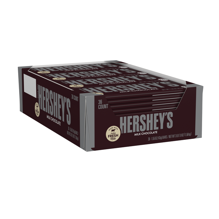 Image of HERSHEY'S Milk Chocolate Standard Bar (36 ct.) [36-Pack (36 x 1.55 oz. bar)] Packaging