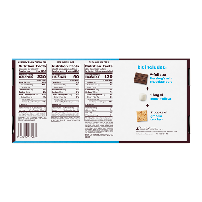 Image of HERSHEY'S S'MORES Kit Packaging