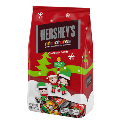 Holiday HERSHEY'S Miniatures Milk Chocolates, 36 oz.