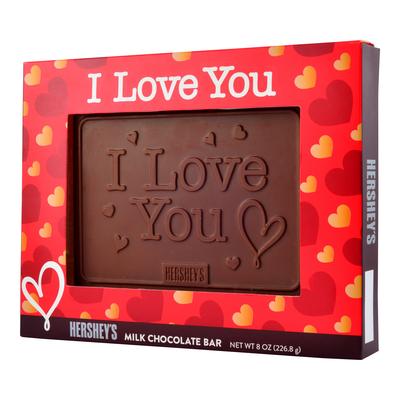 "HERSHEY'S ""I Love You"" Chocolate Bar - 8 oz."